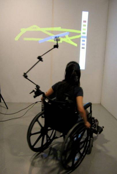 Photo d'une femme en fauteuil roulant