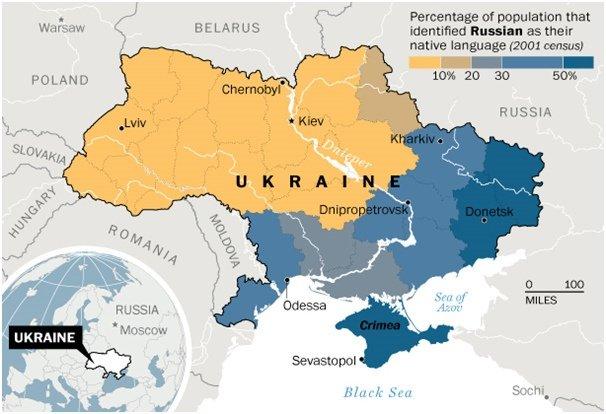 Carte de l'Ukraine, Prachatal, certains droits réservés