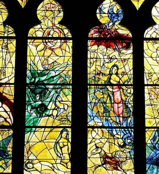 Vitrail de Chagall à la cathédrale de Metz