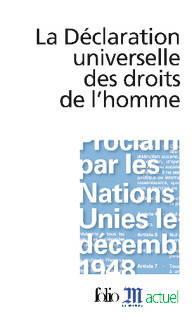 couverture La Déclaration universelle des drois de l'homme
