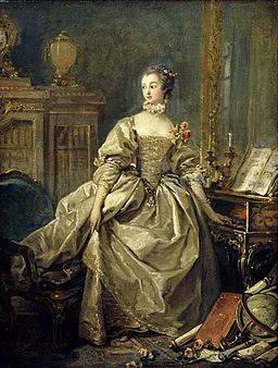 Madame de Pompadour peinte par Boucher