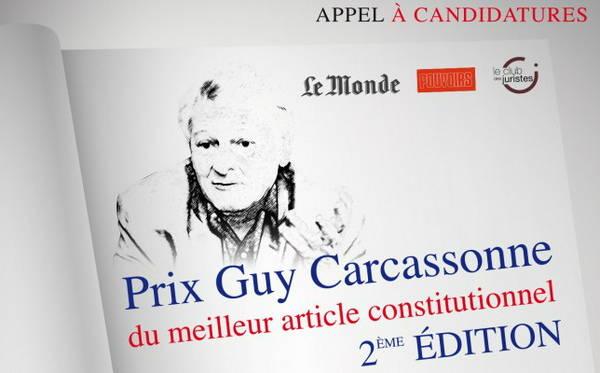 Affiche du prix Guy Carcassonne