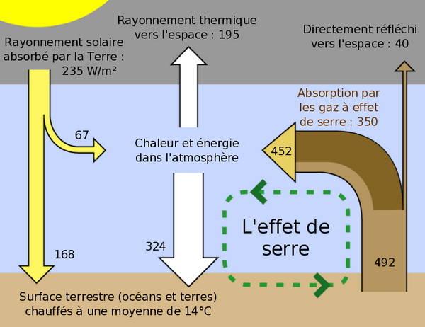 schéma représentant l'effet de serre