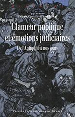 Clameur publique et émotions judiciaires, couv