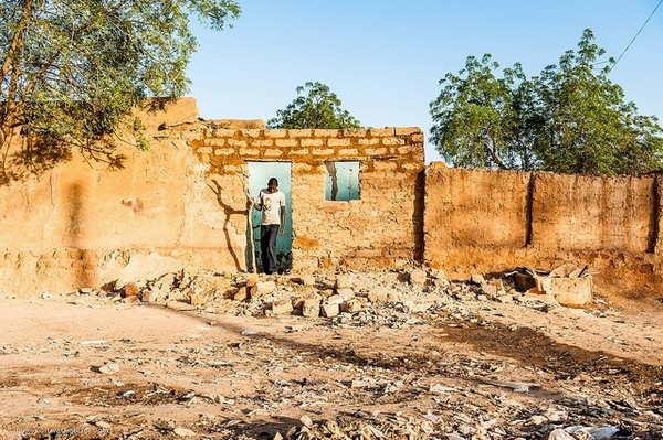 Dégats des inondations après les sécheresses au Niger