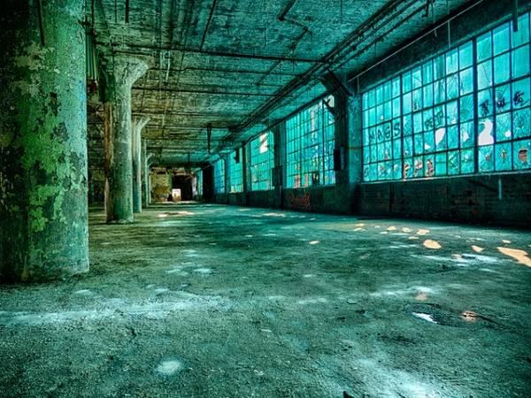 photo de friche industrielle à Détroit