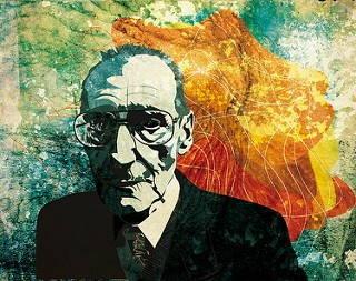 Portrait de William Burroughs par Alvaro Tapia