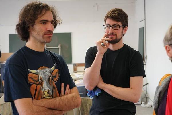 Bertrand Dezoteux et son assistant Adrien Castillo
