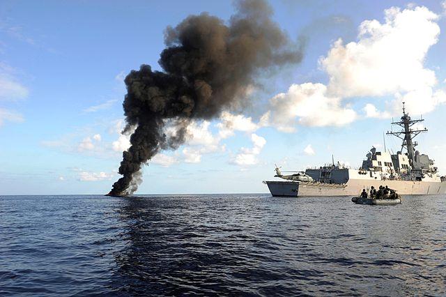 Un destroyer de la force internationale de lutte contre les pirates