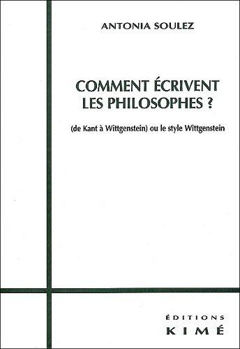 Comment écrivent les philosophes - couverture