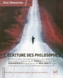 L'écriture des philosophes - couverture
