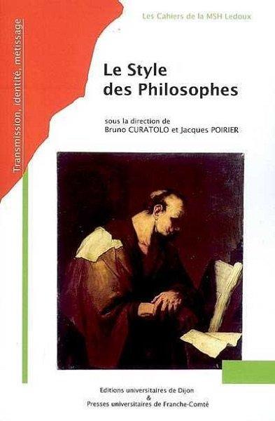 Le style des philosophes - couverture