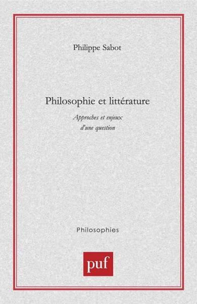 Philosophie et littérature - couverture