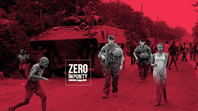 Capture d'écran du site Zéro impunity