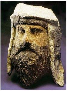 Tête de zoroastrien de Bactres (Iran)
