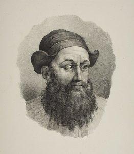 Lithographie de Friedrich Rehberg figurant Zoroastre