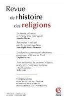 Revue d'histoire des religions numéro 4 2007