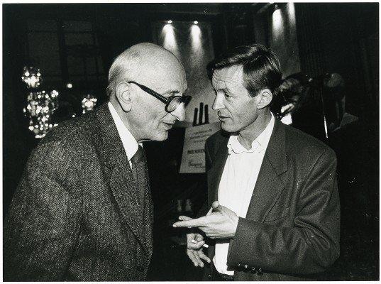 Jérôme Lindon et Jean Echenoz en 1999