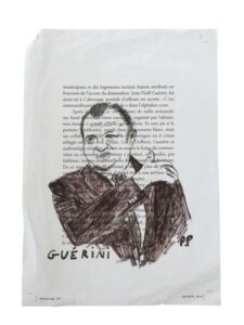 Croquis de Guérini par Philippe Pujol