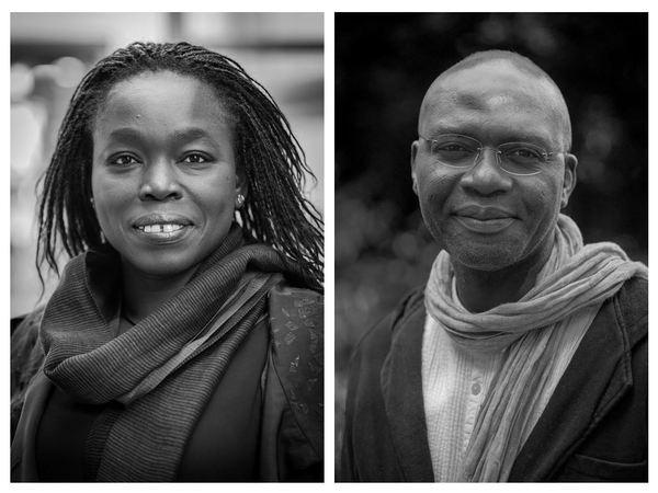 Portraits de Fatou Diome et Gaston-Paul Effa