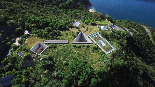 Vue aérienne du Chichu Art Museum