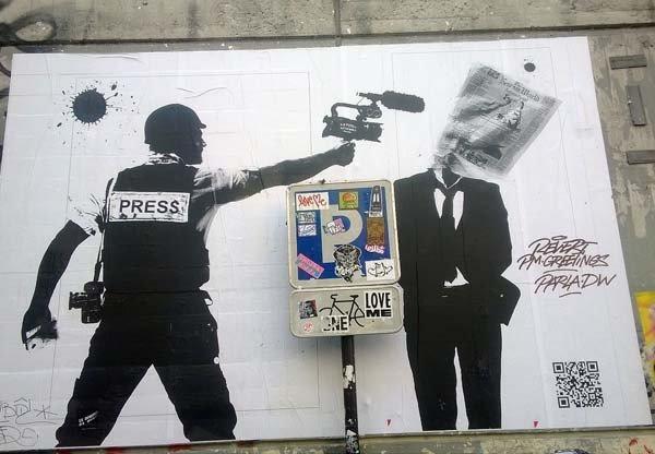 street art, journaliste en action