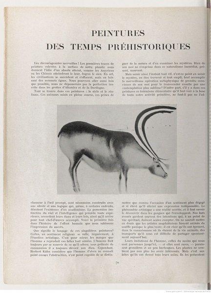 page 70 de la revue Cahier d'art, 1926