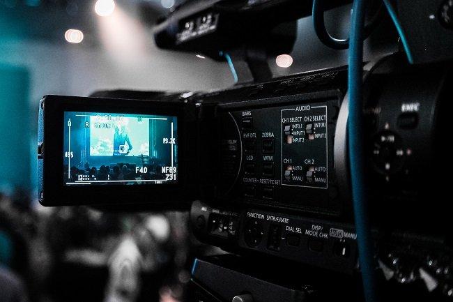 écran numérique d'une caméra