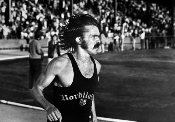 Steve Prefontaine en pleine course, le 29 mai 1975