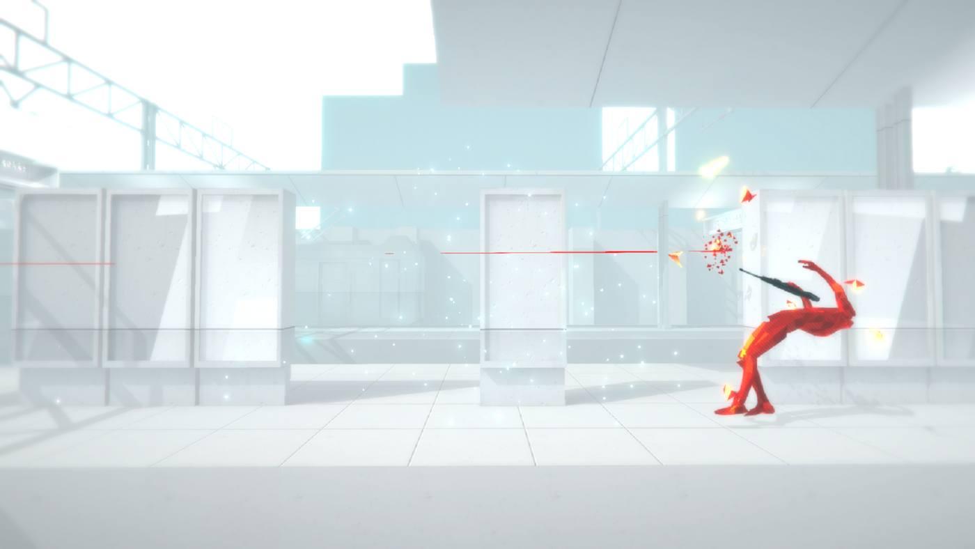 une silhouette humaine rouge abattue par un tir