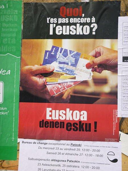 affiche pour l'Eusko, monnaie complémentaire
