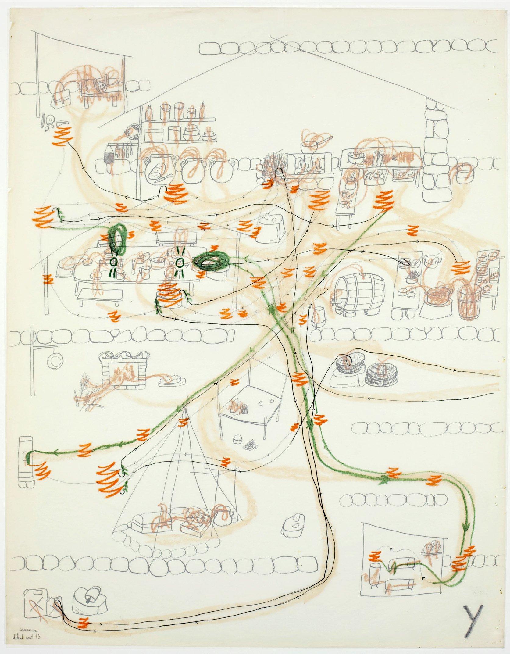 Carte d'erre dessinée par Jacques Lin en 1973
