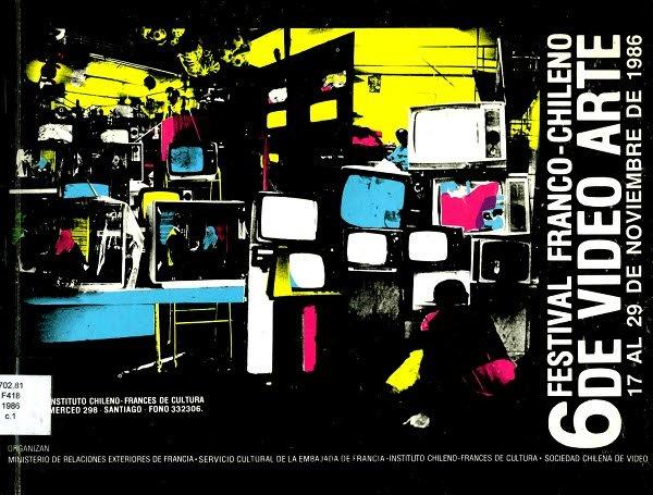 Affiche du festival franco-chilien d'art vidéo 1986