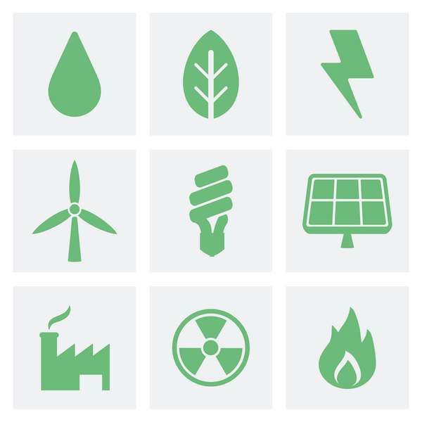 symboles de l'économie verte