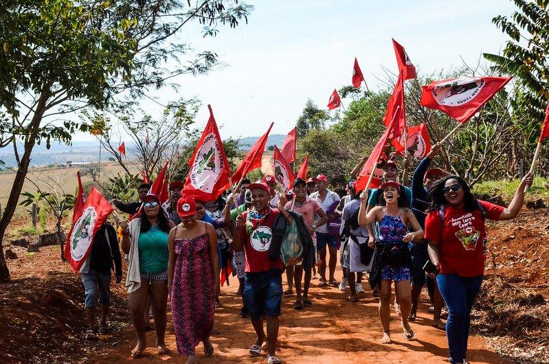 Manifestation du MST au Brésil