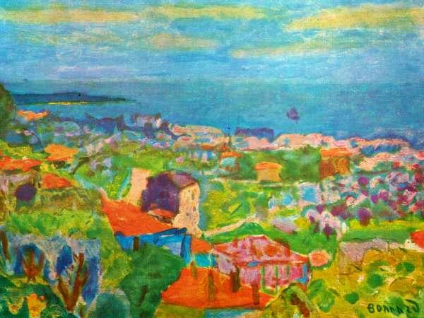 vue colorée de la ville du Cannet